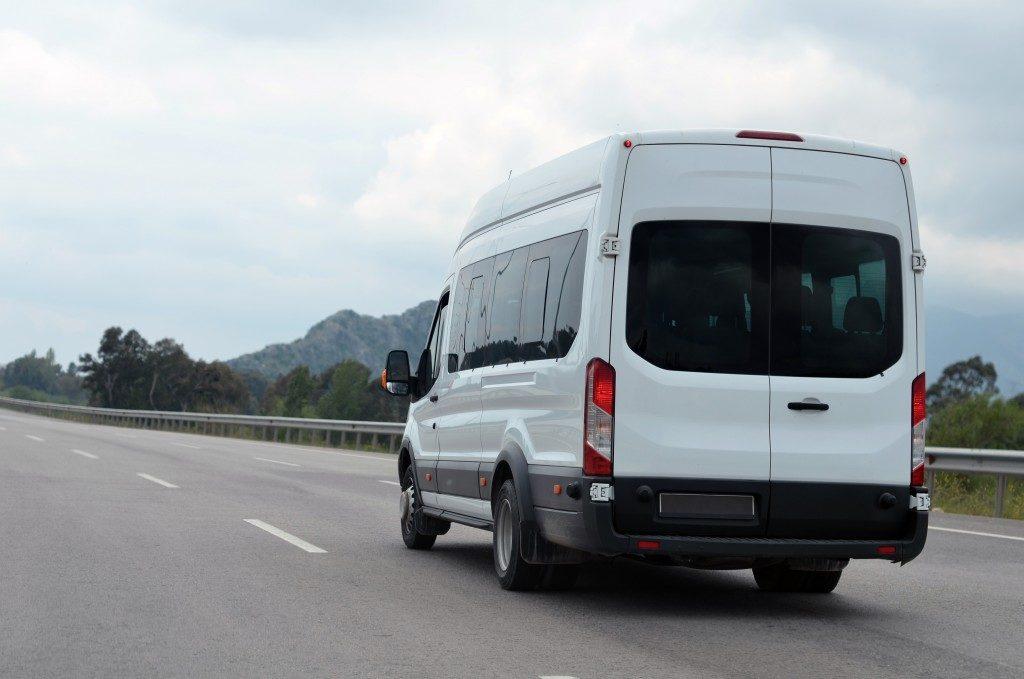 sprinter van on the road