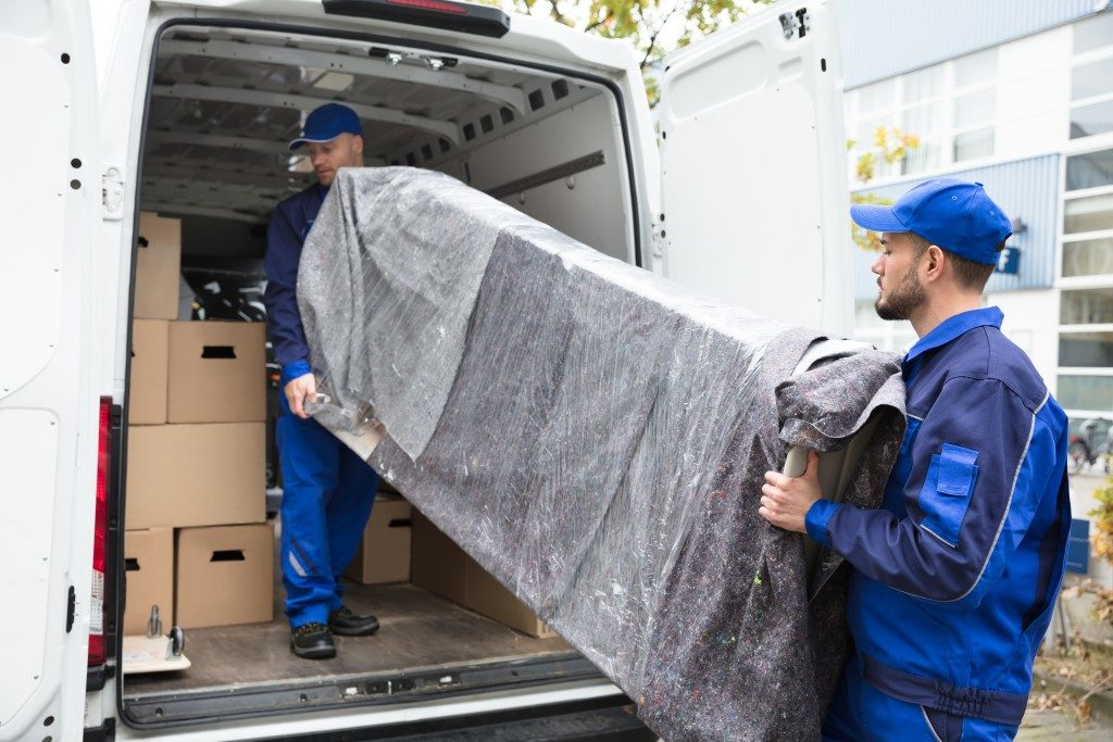 furniture loading into van