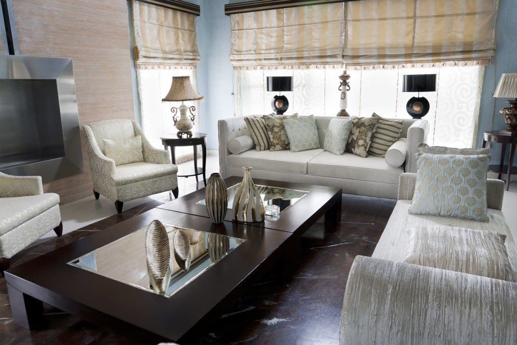 living room with oriental furniture