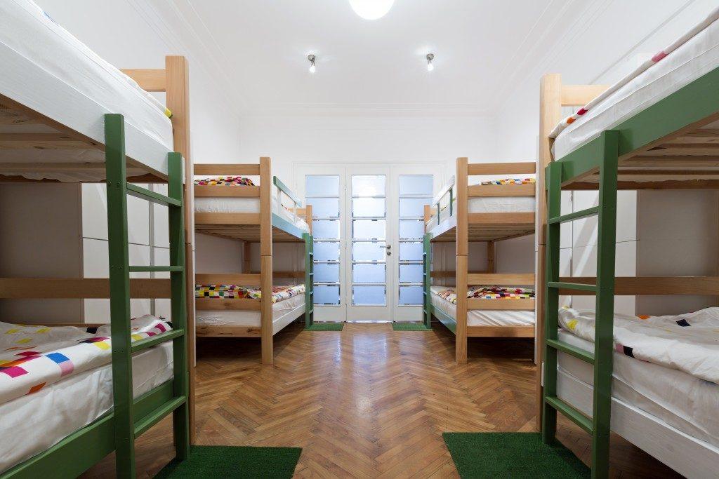 bunk beds in dorm