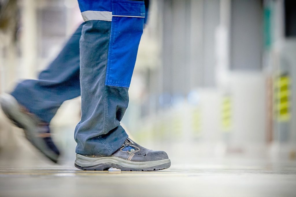 Construction worker's shoes