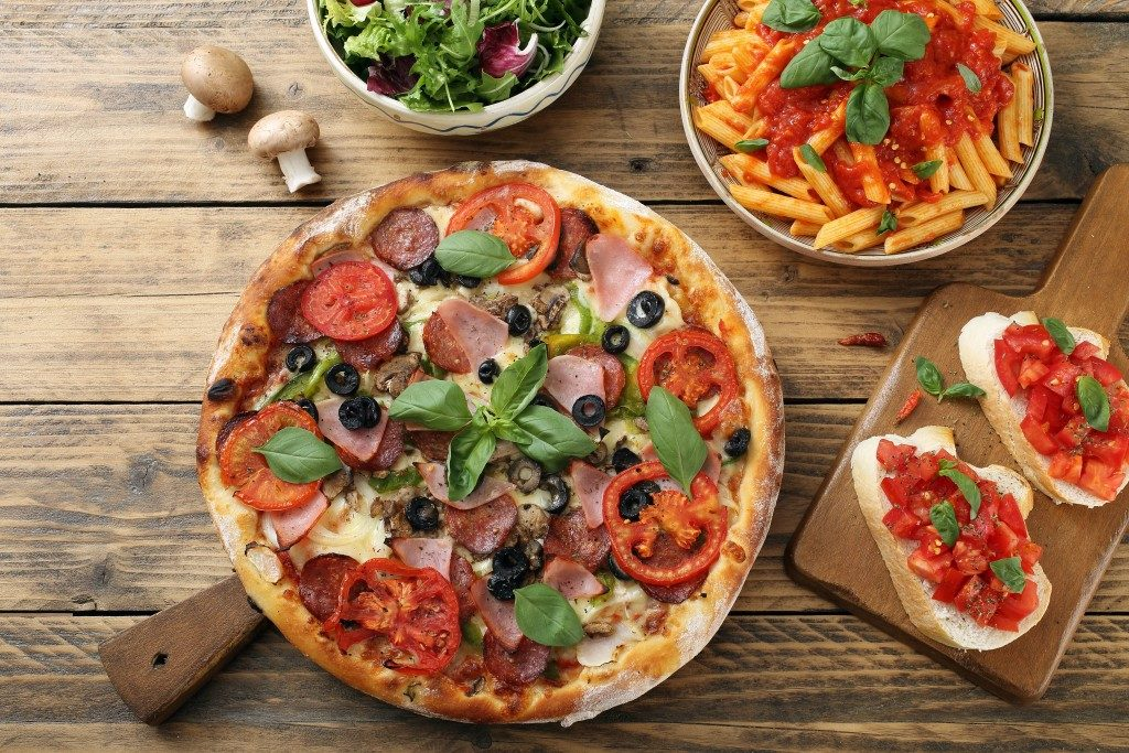 pizza with other italian meals