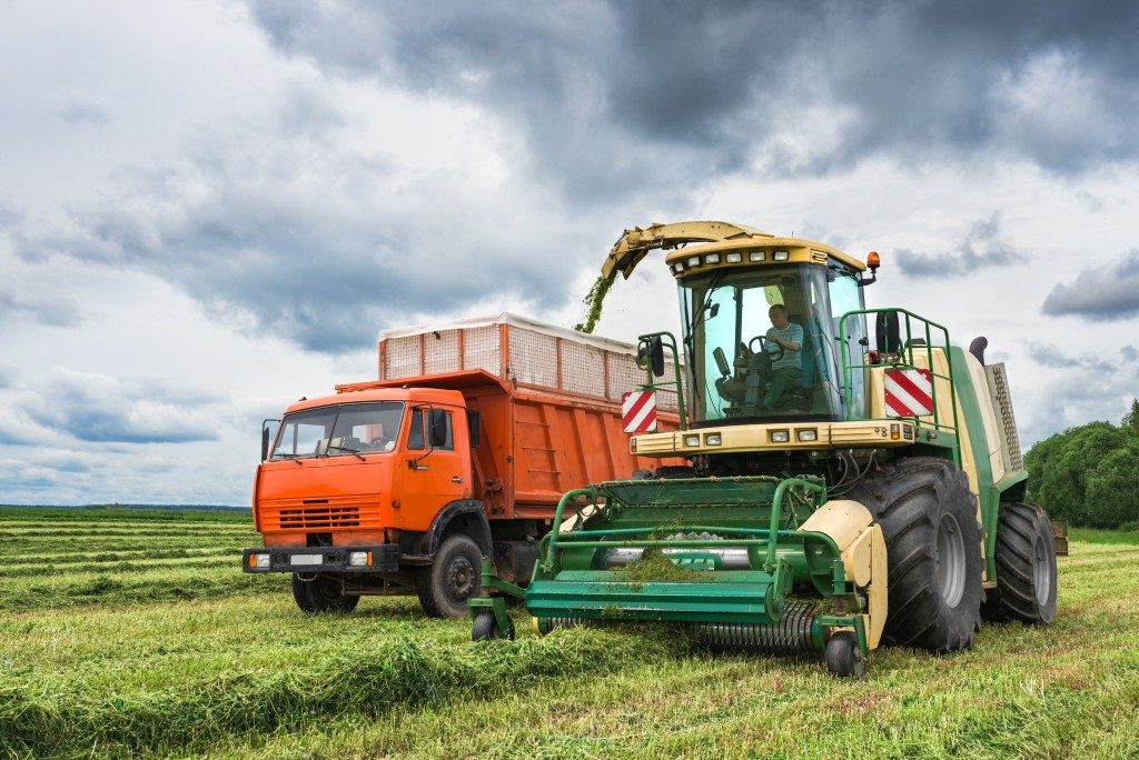 Farm equipment and trucks