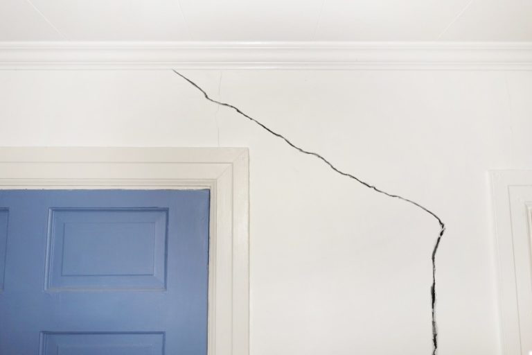 crack on home's wall
