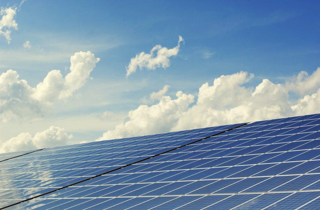 solar panels under the sun