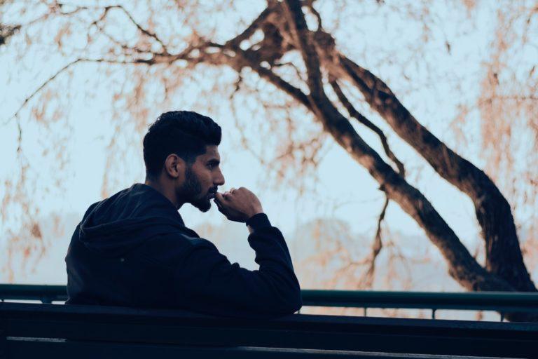 man reflecting