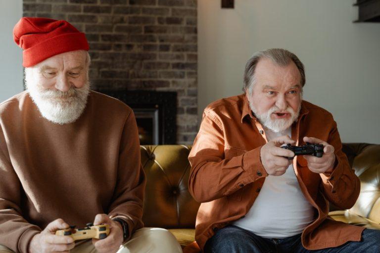 men playing games