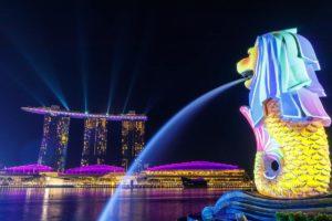 merlion statue in Singapore