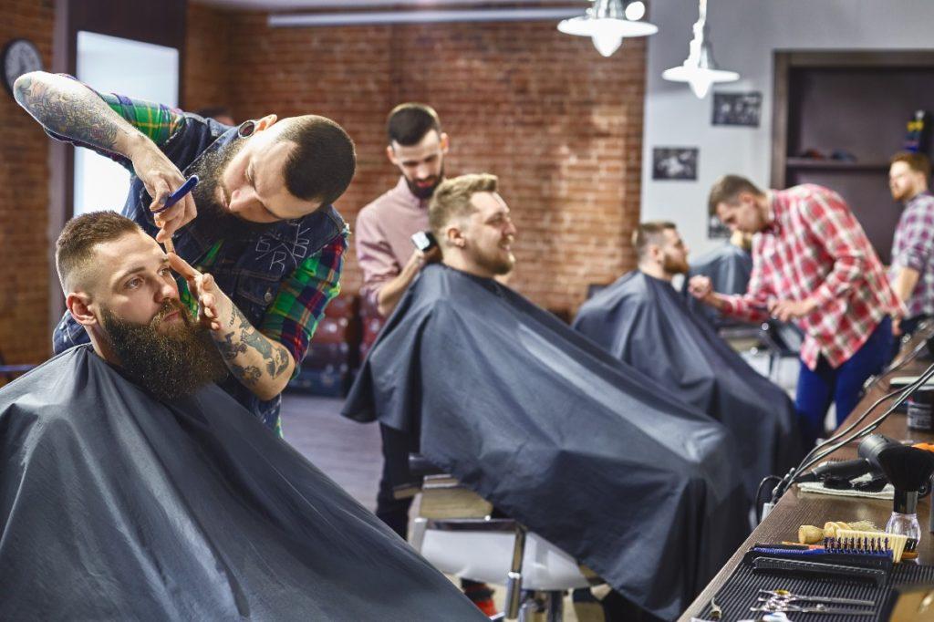 men at the barbershop